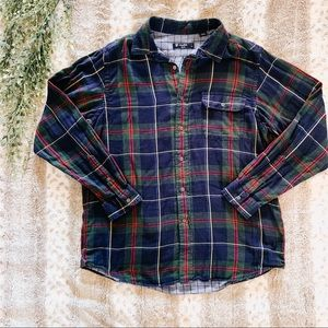 Cremieux Flannel Plaid Long Sleeve Shirt - Size L